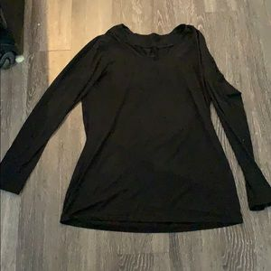 Black long sleeve soft top